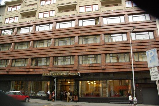 Hotel Majestic Plaza Prague : façade de l'hotel