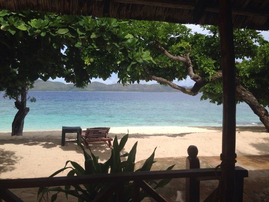 Club Paradise Palawan: View from my room. I'm so glad we got the beach front cottage, so worth it!