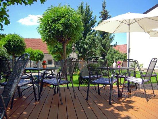 Hotel Stadt Beelitz: Terrasse