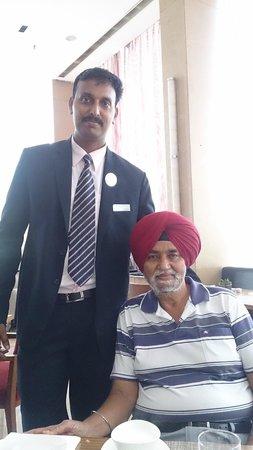 The Fern Ahmedabad: Dad and Ranjith (Executive F&B) at Restaurant