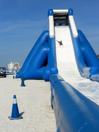 TradeWinds Island Grand Resort : Slide on Beach, now they have a double slide!
