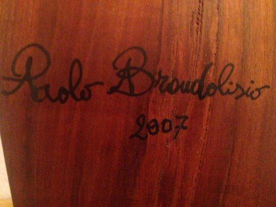 The workshop of Paolo Brandolisio: Paulus Signatur auf der Forcola