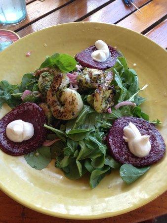 Duke's Kauai: Gulf Shrimp and Beat Salad