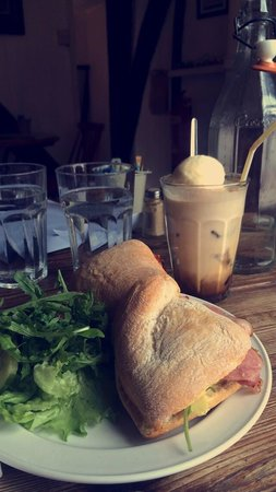 Coffee Culture: Bacon,Brie and avocado ciabatta with Aussie style iced coffee!