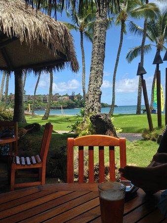 Duke's Kauai: view from the beach bar