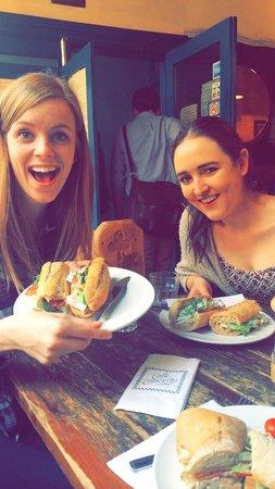 Cafe Concerto: Perfect ham,Brie and salad baguette! Soooooo good!