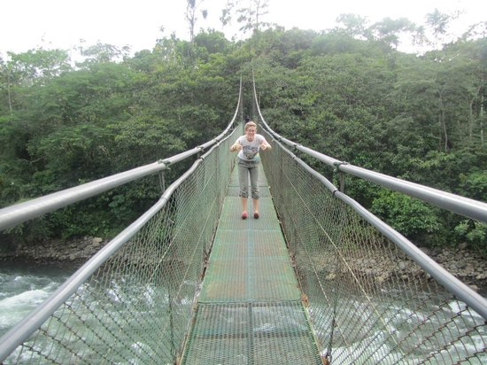 Tirimbina Lodge: the bridge!