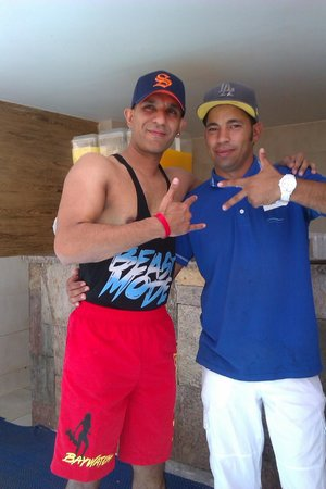 Coral Sea Aqua Club Resort: With nabeel pool side attendent.