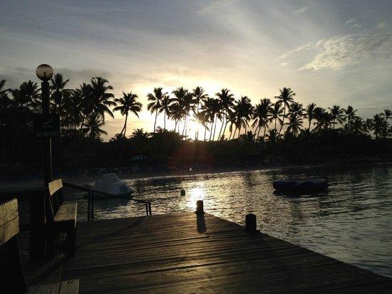 Dreams La Romana Resort & Spa : Vista a las 6:00 am de la playa.
