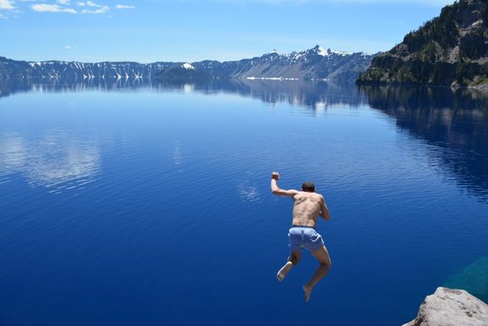 Crater Lake National Park: Going for a swim in the Lake