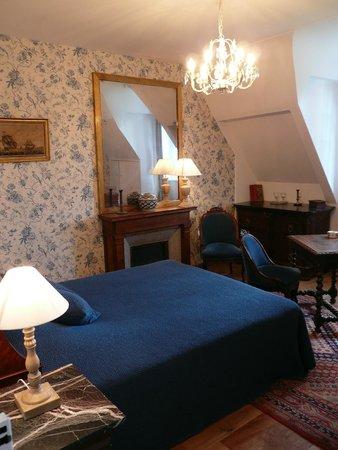 Manoir de Lanroz : Chambre Bleue 2éme étage