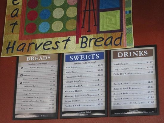 Great Harvest Bread Company: Menu