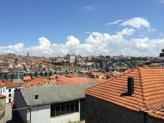 Barao de Fladgate : Vue superbe sur le pont Luiz et sur Porto depuis la terrasse