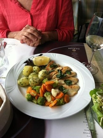 Locanda Gandriese Restaurant : Perch with potatoes and vegetables.