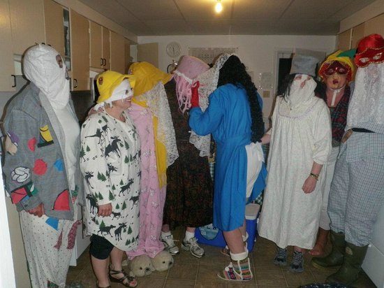 Woody Island Resort: Newfoundland Kitchen Party - The mummers drop in!