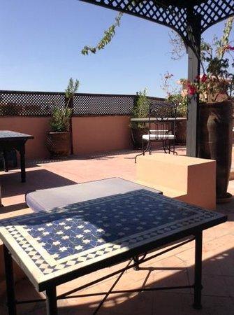Dar Naima : la terrasse