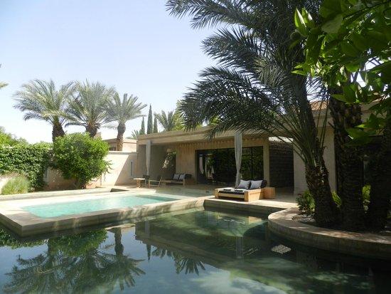 Palais Namaskar : La Villa et sa piscine entourée de bassins