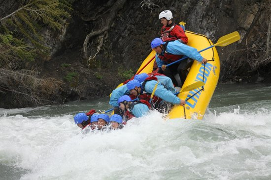 Chinook Rafting : Time to get wet! This is us playing with the rapids! They do not always do this I am told.