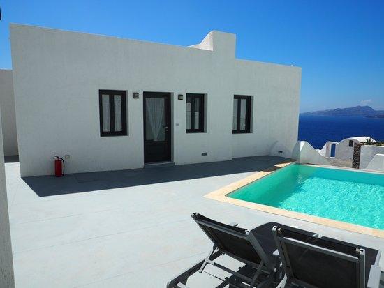 Ambassador Aegean Luxury Hotel & Suites : Terrasse mit Pool