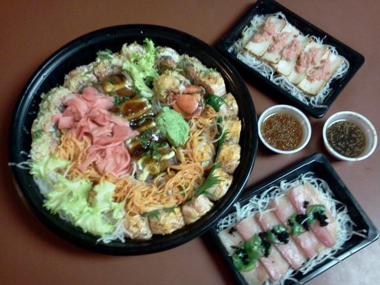 Sushi Hana Japanese Fusion : This was a great lunch suprise, and take out to boot!
