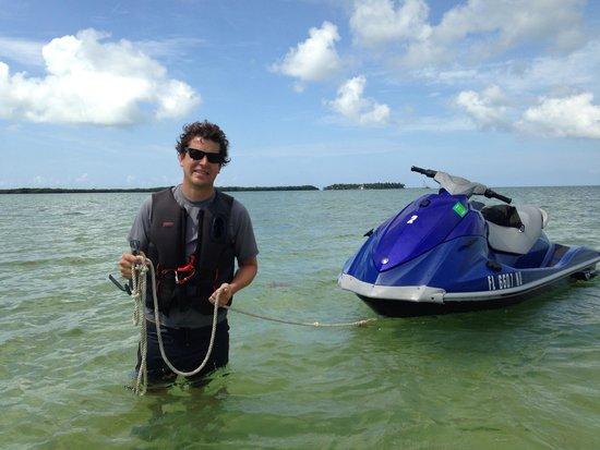 Florida Keys Jet Ski Rentals: Taking a break at Picnic Island