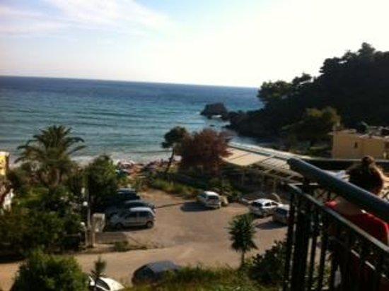 Glyfada Beach Hotel Corfu: View from our room.