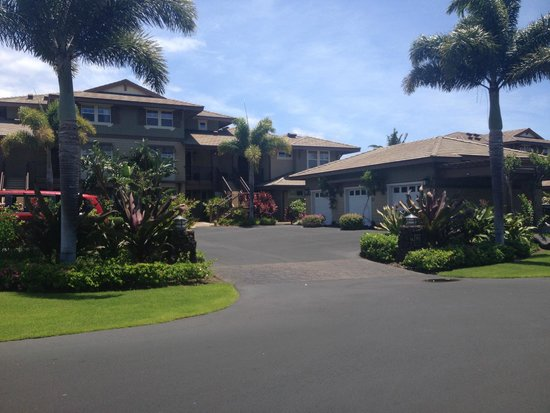 Halii Kai Resort at Waikoloa Beach : View of entrance to Unit 9C