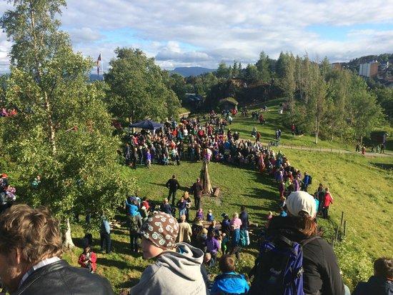 Sverresborg Trondelag Folk Museum : View of the campfire