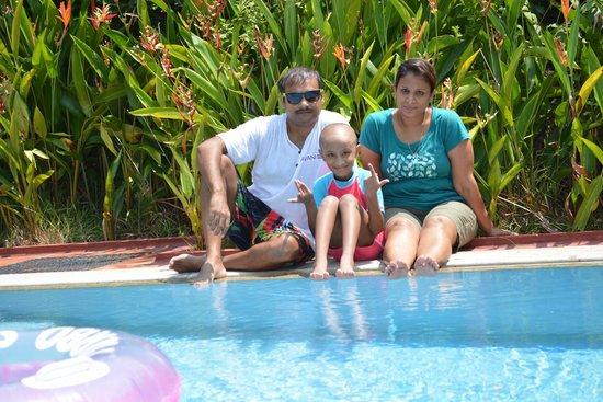 Marari Beach Resort : at the pool in the villa....