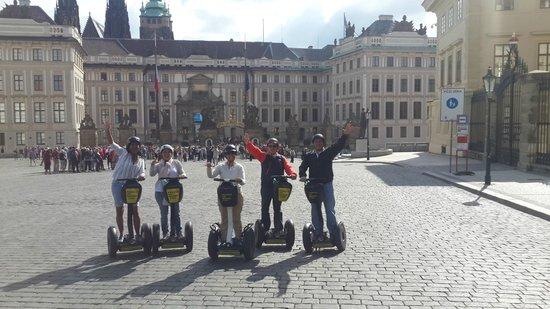 Prague On Segway : Andando..