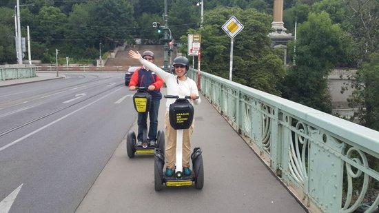 Prague On Segway : Andando.