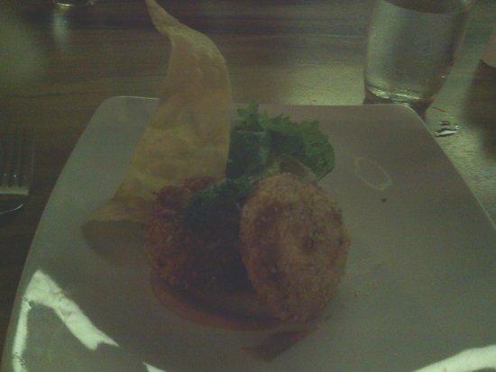Uppala Villa & Spa Umalas: exemple d'entrée servie au restaurant