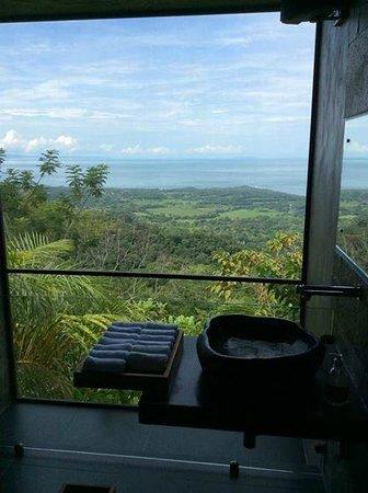 Kura Design Villas Uvita : This is the view for the lobby/pool bathroom!