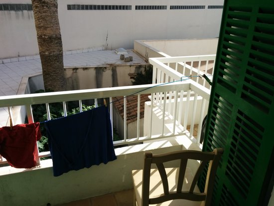 Hostal Calma: het balkon