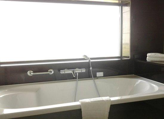 Van der Valk Hotel Duiven : Window above the jetted bathtub