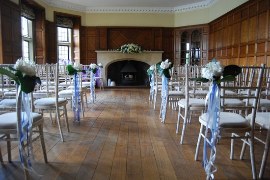 Bourton, UK: The Oak Room set up for Wedding