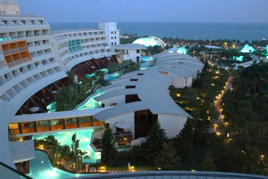 Cornelia Diamond Golf Resort & Spa: View from our room - by night