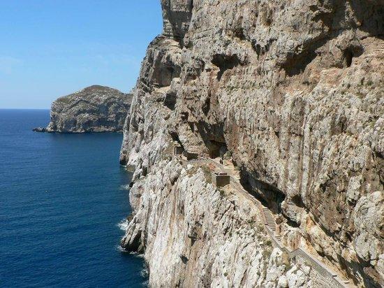 Grotte de Neptune (Grotta di Nettuno) : Stairs to Neptunes Grotto