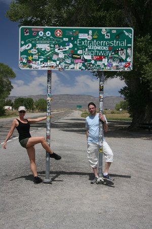 Adventure Photo Tours : Pole dancing at the Extraterrestrial Highway :)