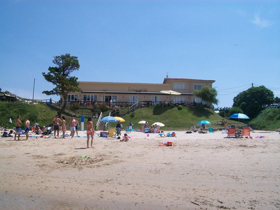 La Farola del Mar: Fachada del hotel, desde la playa