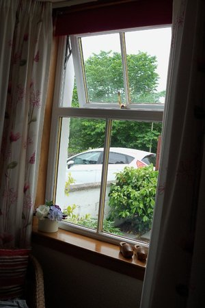 Ashgrove Bed & Breakfast : Ground floor bedroom with our car just outside the window