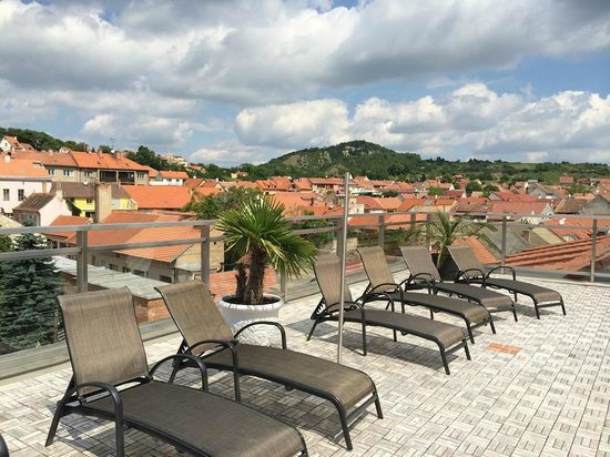 Hotel Galant: nice view from roof terrace