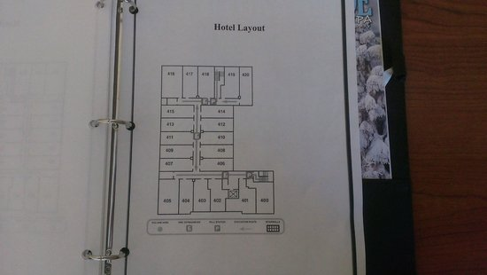 The Carbondale Grand Hotel & Conference Center : Floor Plan/Room Size
