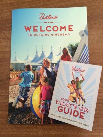 Butlin's Minehead : Welcome Pack