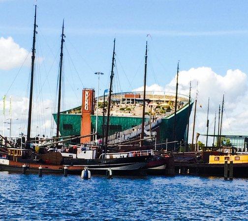 NEMO Science Museum: The Ship shaped science museum, Nemo...harbor view.