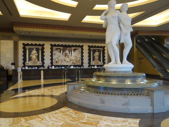Caesars Windsor: The registration lobby.