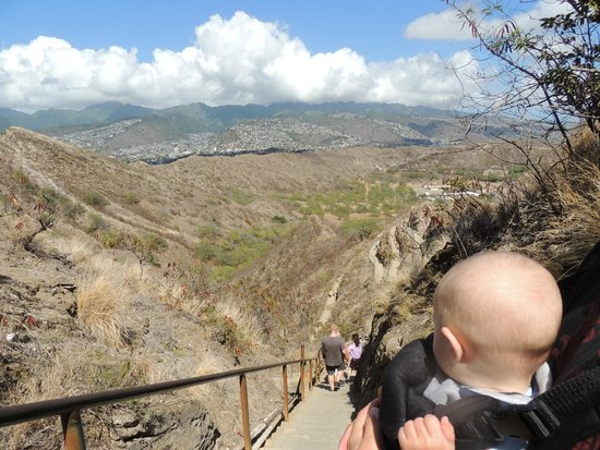 Diamond Head: Can hike it with a baby!