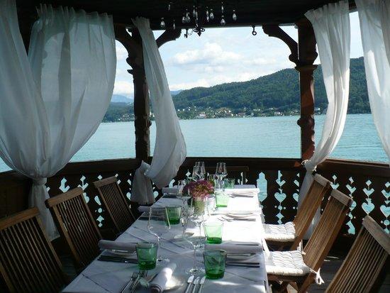 Schlossvilla Miralago: Dinner im Bootshaus