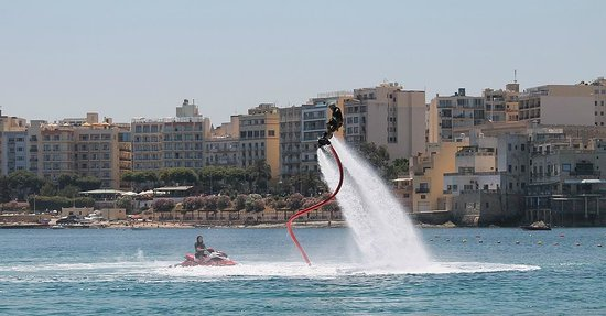 Flyboard Malta: A snapshot of Simon and Joanne after my session