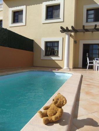 Holiday Villas: pool and rear of villa